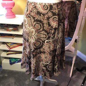 Ann Taylor Paisley Skirt